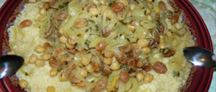 Couscous marocain au poulet et raisins secs