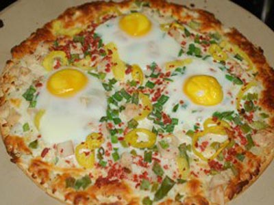 recette pizza aux oeufs