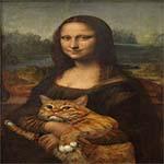 Quand un chat se mêle de l'art, ça donne ça