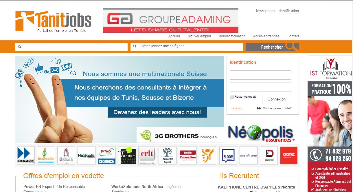 Tanitjob: site d'offres emploi en tunisie
